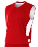 NB2349 A4 Youth Reversible Speedway Muscle Shirt