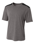 NB3100 A4 Boy's Tourney Heather Color Block T-Shirt