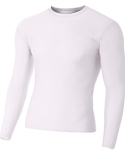 NB3133 A4 Youth Long Sleeve Compression Crewneck T-Shirt