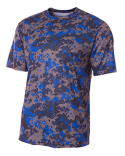 NB3256 A4 Youth Camo Performance Crew T-Shirt