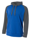 NB4234 A4 Youth Color Block Tech Fleece Hoodie