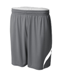 NB5364 A4 Youth Performance Double/Double Reversible Basketball Short