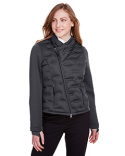 NE710W North End Ladies' Pioneer Hybrid Bomber Jacket
