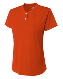 NW3143 A4 Ladies' Tek 2-Button Henley Shirt