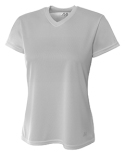 NW3254 A4 Ladies' Birds-Eye Mesh V-Neck T-Shirt