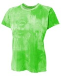 NW3295 A4 Ladies' Cloud Dye Tech T-Shirt