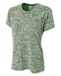 NW3296 A4 Ladies' Space Dye Tech T-Shirt