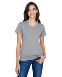 NW3381 A4 Ladies' Topflight Heather V-Neck T-Shirt