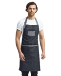 RP127 Artisan Collection by Reprime Unisex Domain Contrast Denim Bib Apron