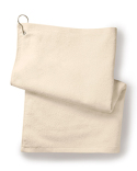T68GH Towels Plus Deluxe Hemmed Hand Towel with Corner Grommet and Hook