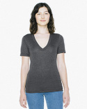 TR456W American Apparel Unisex Tri-Blend Short-Sleeve Deep V-Neck T-Shirt