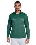 TT26 Team 365 Men's Excel Mélange Interlock Performance Quarter-Zip Top