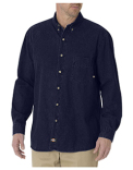 WL300 Dickies Unisex Long-Sleeve Button-Down Denim Shirt