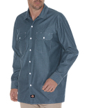 WL509 Dickies Men's Relaxed Fit Long-Sleeve Chambray Shirt