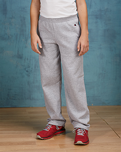 P890 Champion Youth 9 oz. Double Dry Eco® Open-Bottom Fleece Pant